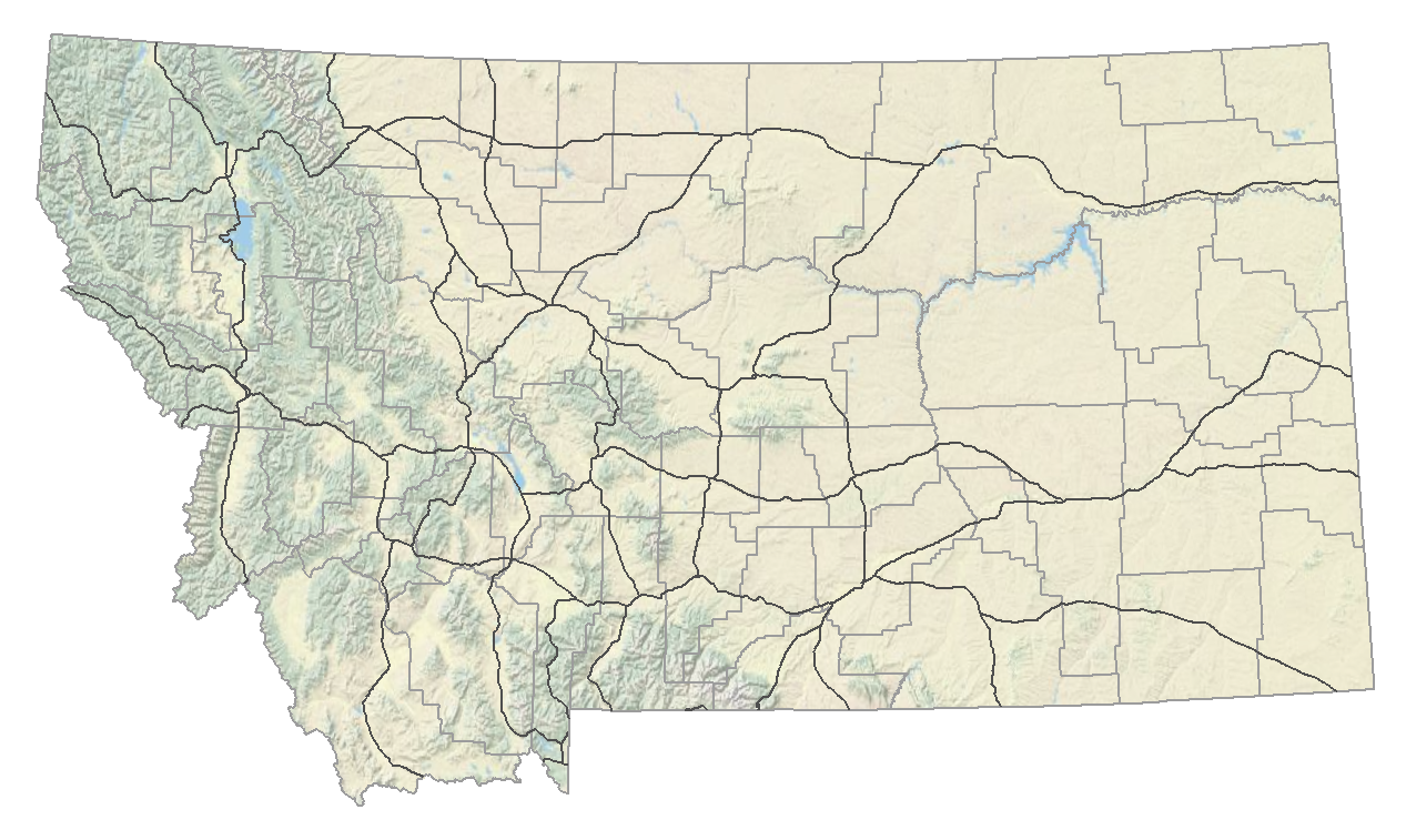 Montana DEQ PM Air Monitoring - Map of montana with cities